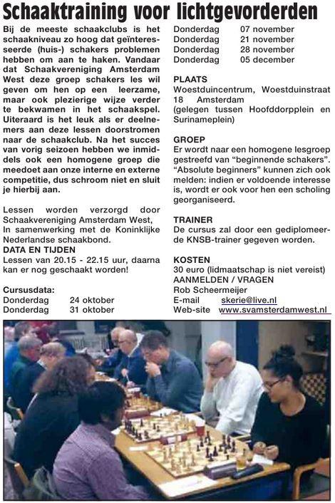 201310 svAW in Westerpost Schaaklessen